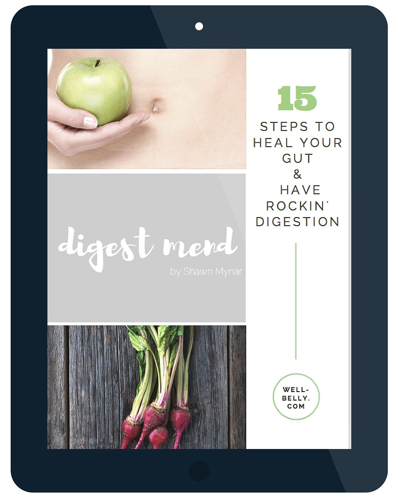 Download your FREE Digest Mend e-book and get my 15 top tips to heal your gut & get rockin' digestion!